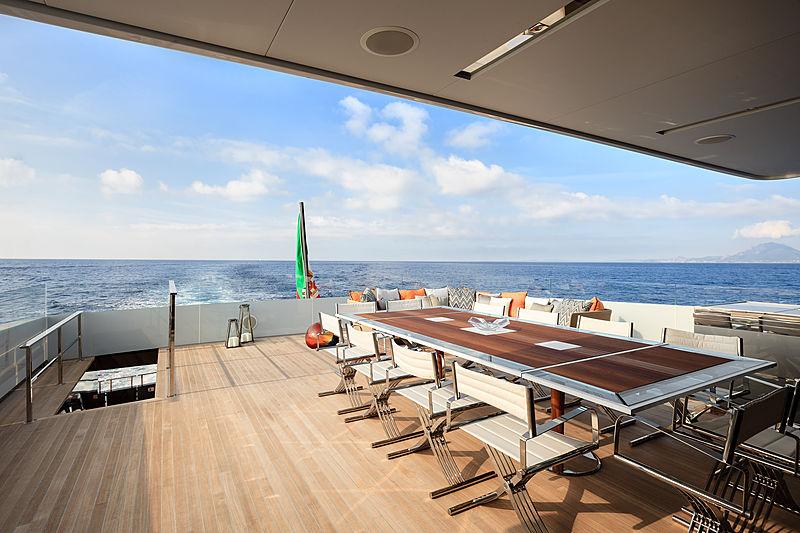 My Logica yacht deck
