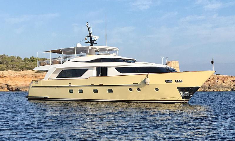 Nakessa yacht at anchor