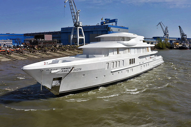 Amels 24206 yacht hull launch