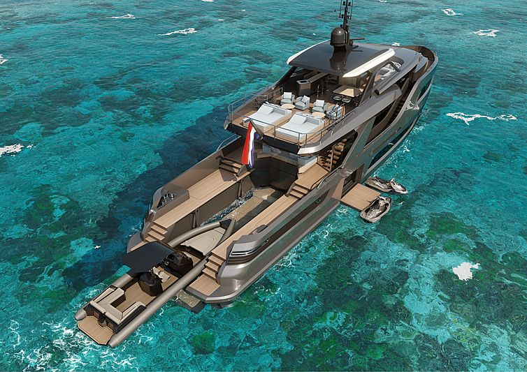 Holterman X-Treme 105 yacht rendering
