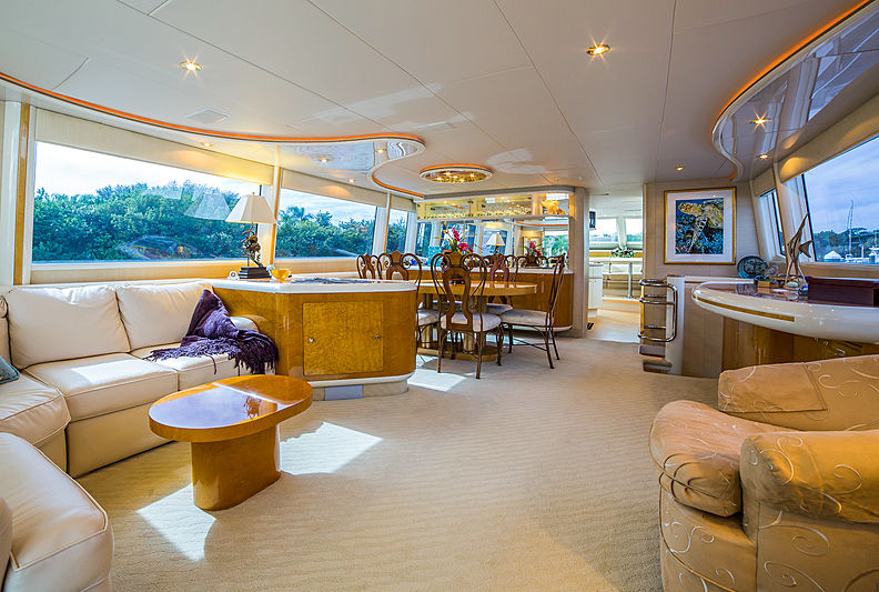 Kaleidoscope yacht interior