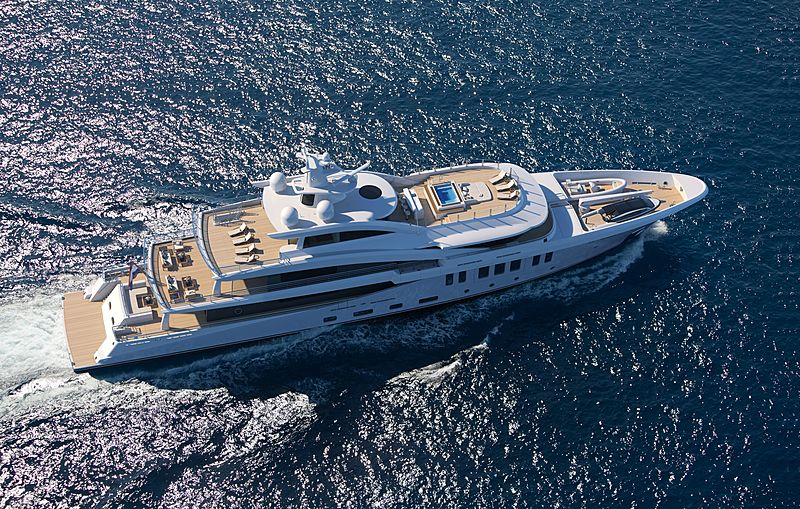 Amels 20003 yacht exterior rendering
