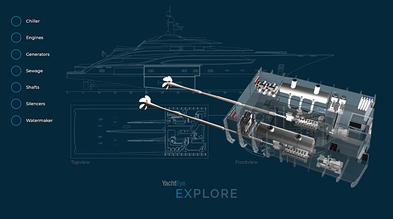 YachtEye Explore 3D Engine Room