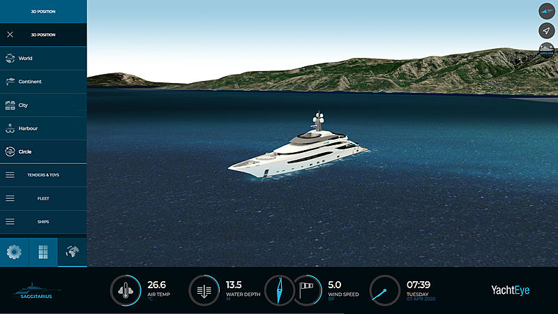 YachtEye 3D Position