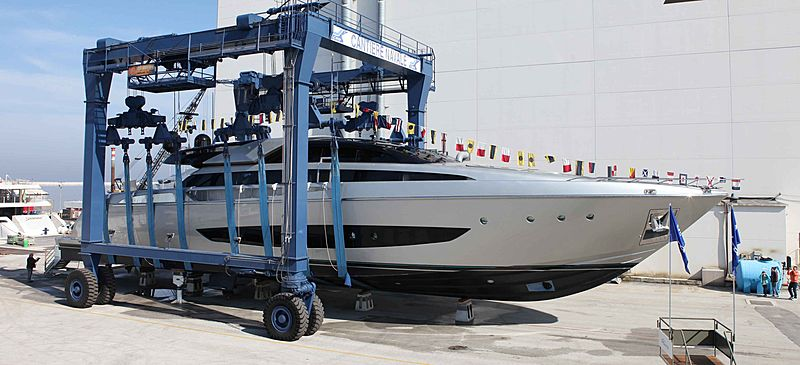 SOL Riva 122 Mythos yacht launch