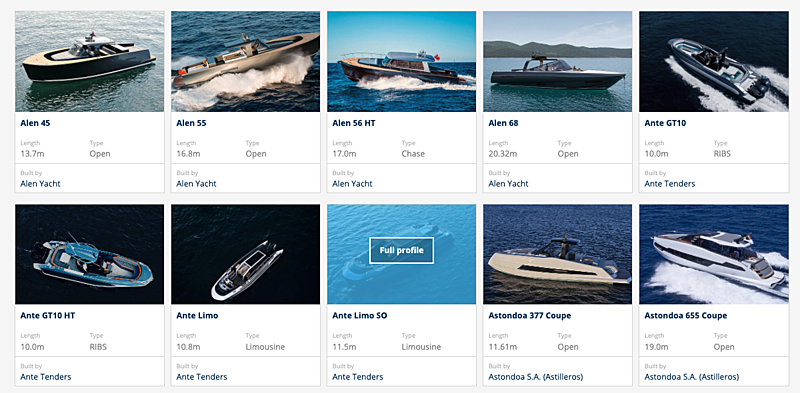 SuperYacht Times Tender Database