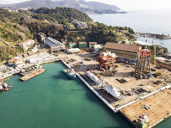 Gruppo Antonini shipyard in La Spezia current situation