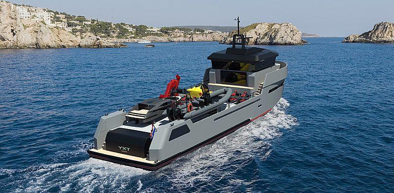 Lynx Yachts YXT34 Sport concept render