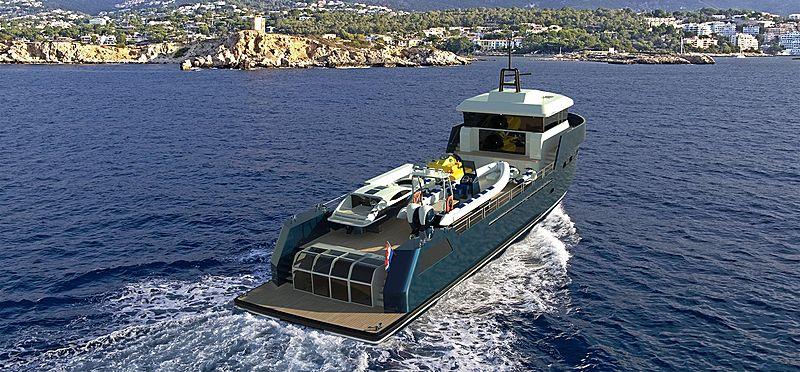 Lynx Yachts YXT34 Plus concept render