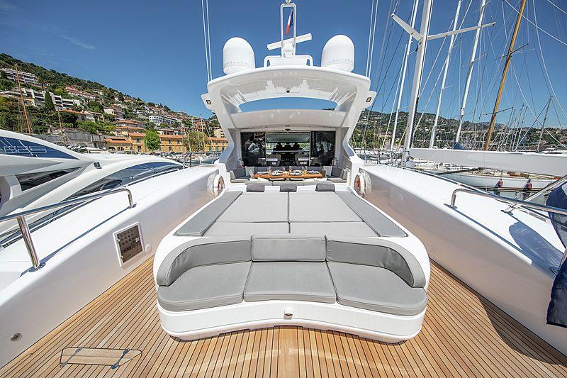 Yalla yacht aft deck