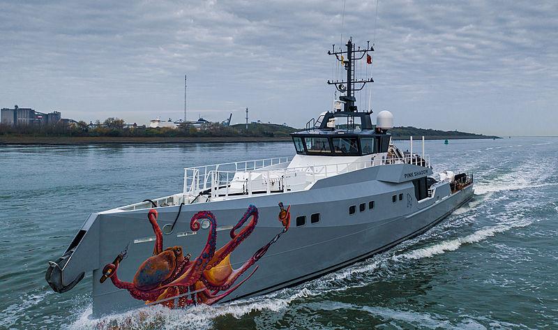 Pink Shadow supprt yacht by Damen