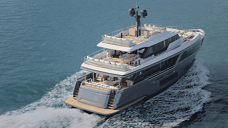 Custom Line Navetta 30 exterior rendering