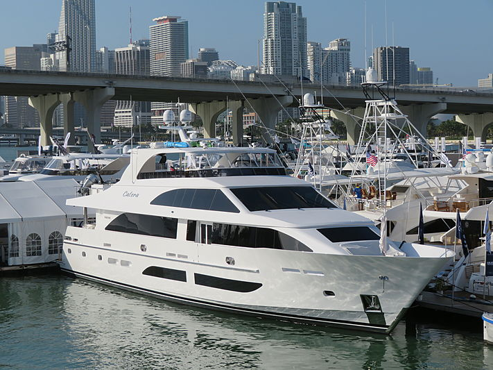 Catera yacht at Miami Yacht Show 2020