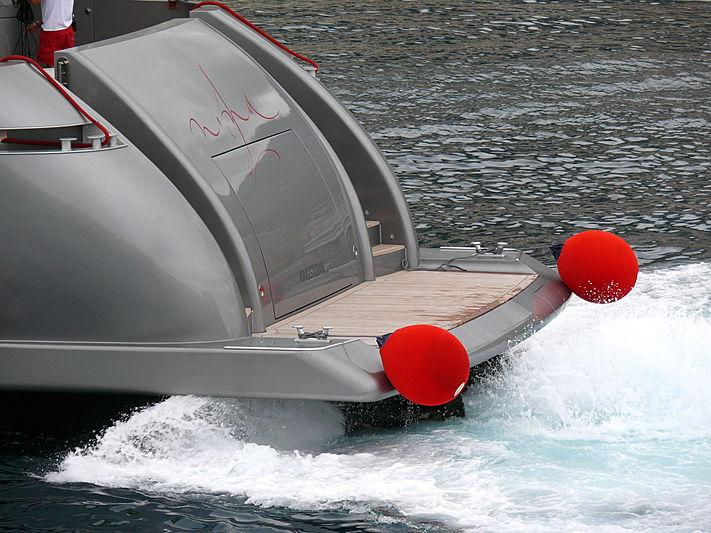 Nina J yacht waterjets