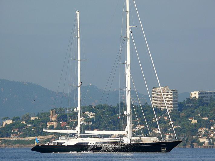 Selene yacht anchored off Juan-les-Pins