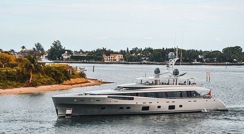 Lady May yacht by Feadship in Palm Beach