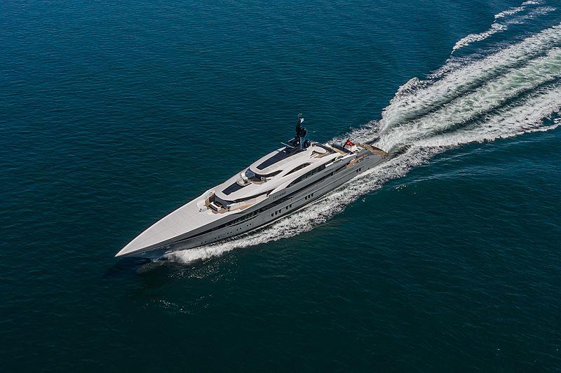 Tatiana yacht on sea trials