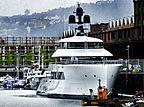 Pi yacht by Feadship in Greenock, Scotland