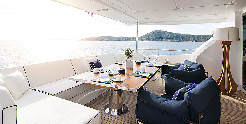 Memories Too yacht aft deck