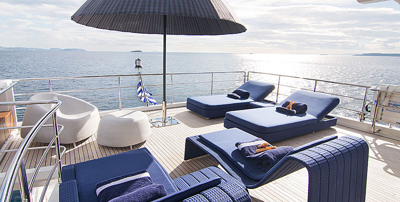 Memories Too yacht sundeck