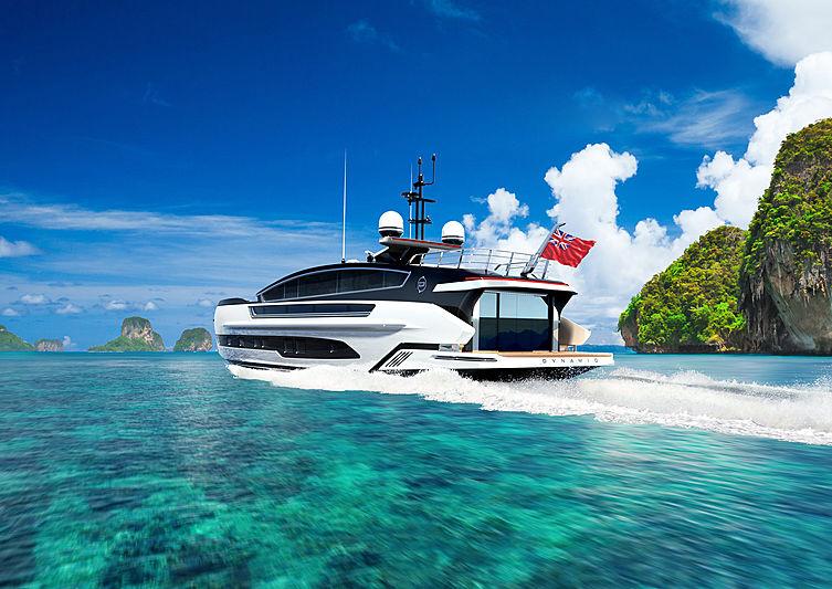 Dynamiq yacht GTM 90 exterior design