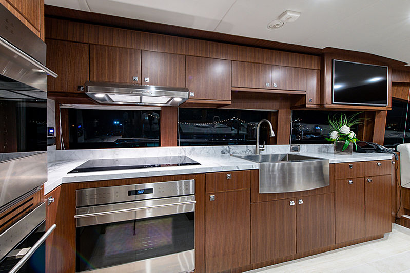 Catera yacht galley