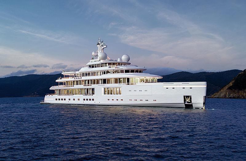 Liminosity yacht anchored
