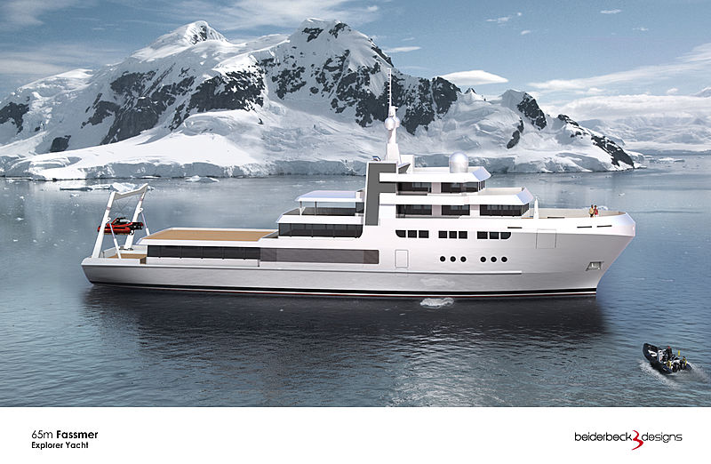 Fassmer 65m explorer yacht concept by Beiderbeck Designs