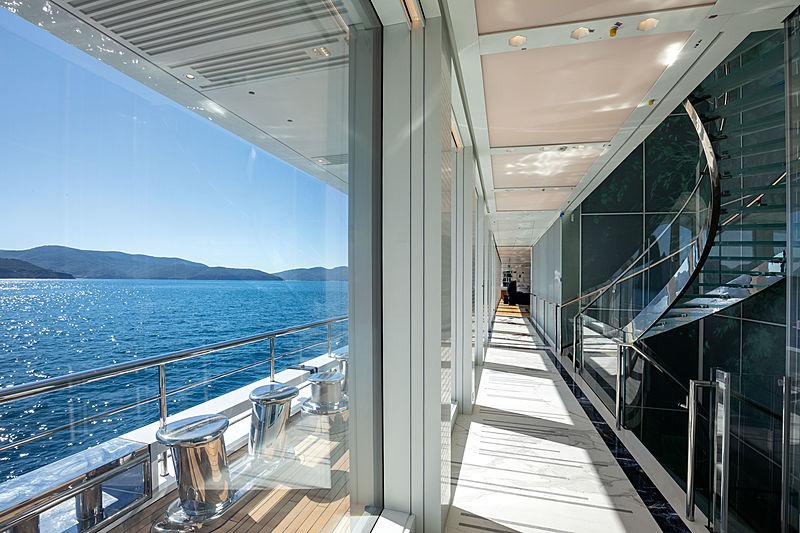 Luminosity yacht hallway and staircase