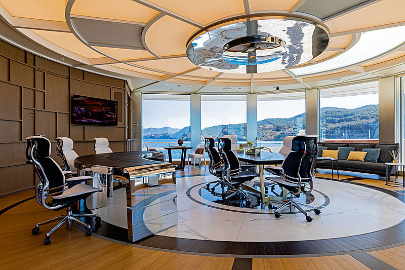 Luminosity yacht conference room