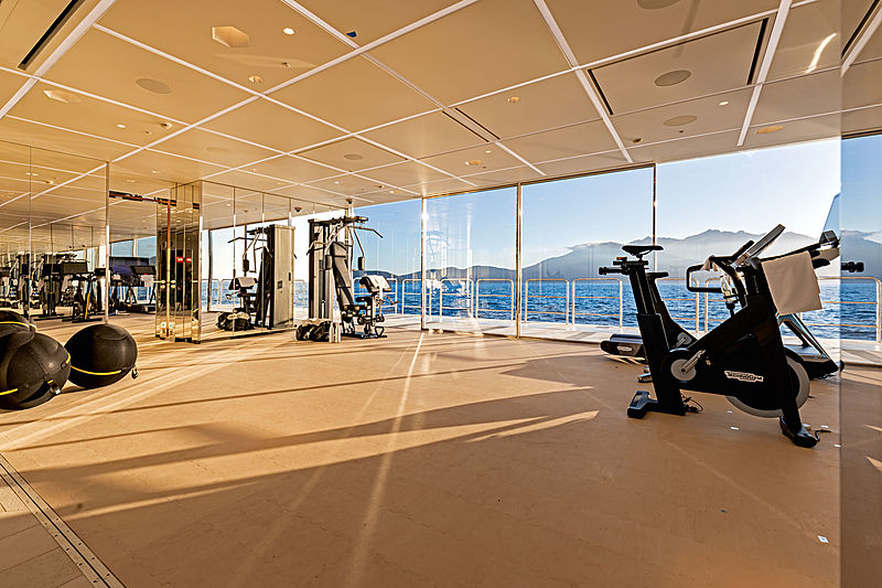 Luminosity yacht gym