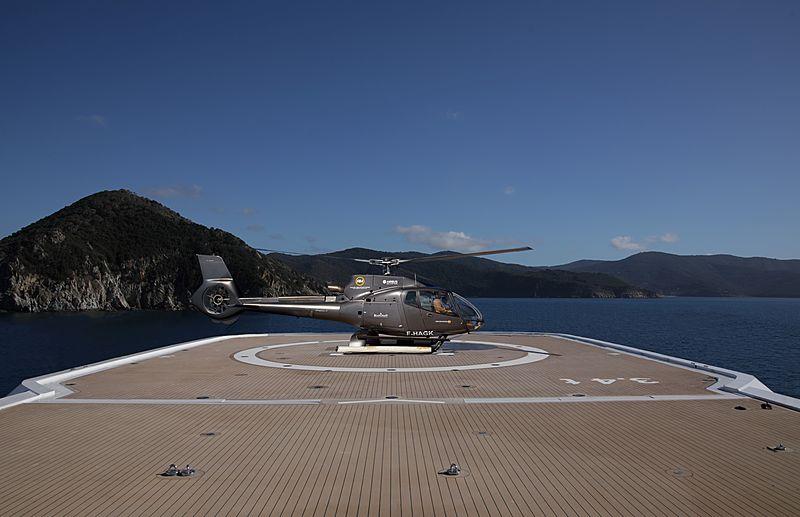 Luminosity yacht helicopter pad