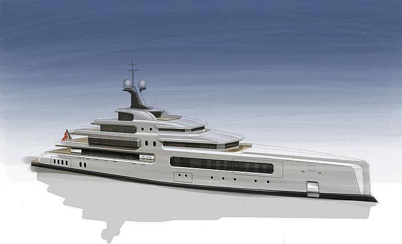 Wayne Parker Design 72m yacht concept
