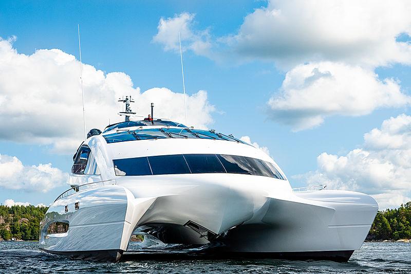 Royal Falcon One yacht at anchor