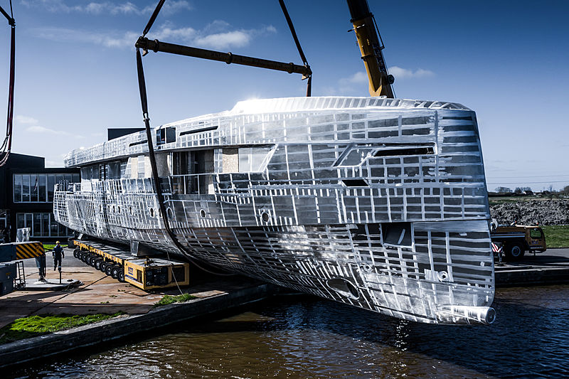 Adur yacht by Hakvoort hull launch