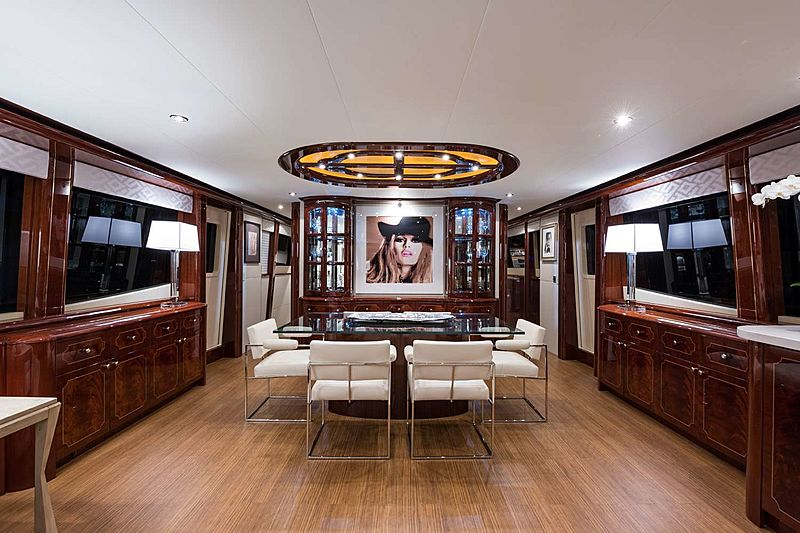 Money For Nothing yacht dining