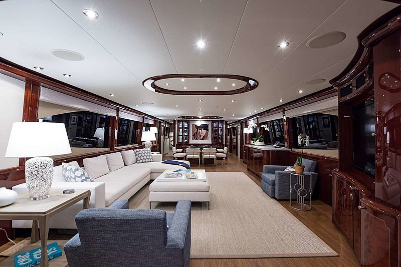 Money For Nothing yacht saloon