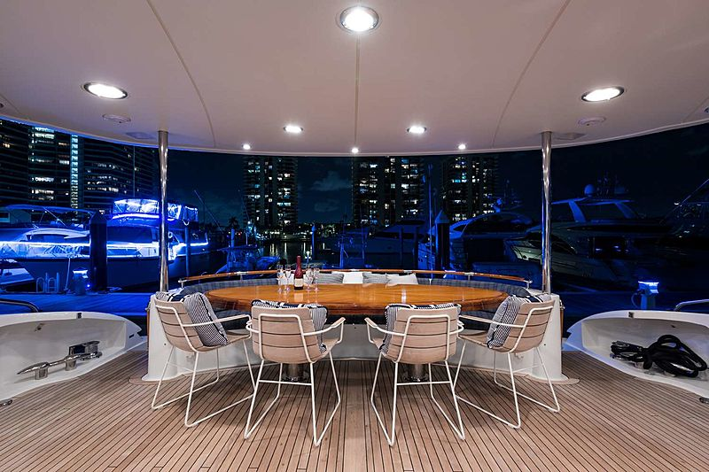 Money For Nothing yacht aft deck