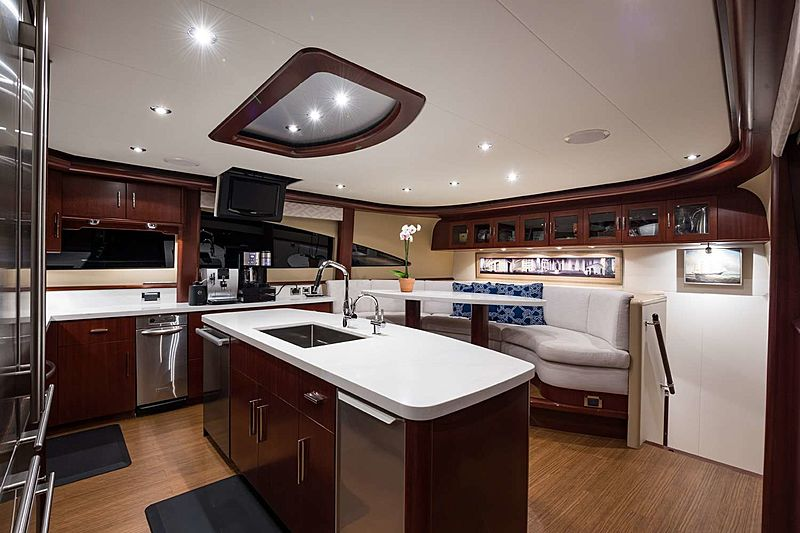 Money For Nothing yacht galley
