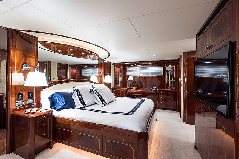 Money For Nothing yacht stateroom