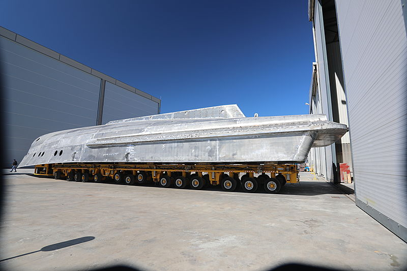 Alia 36m Fast Yacht Support yacht under construction