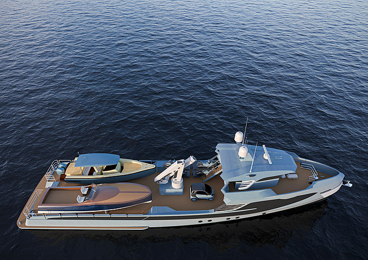 Alia 36m Fast Yacht Support yacht exterior design