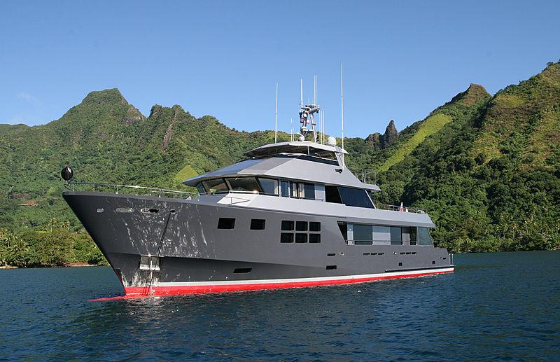 Akiko yacht anchored