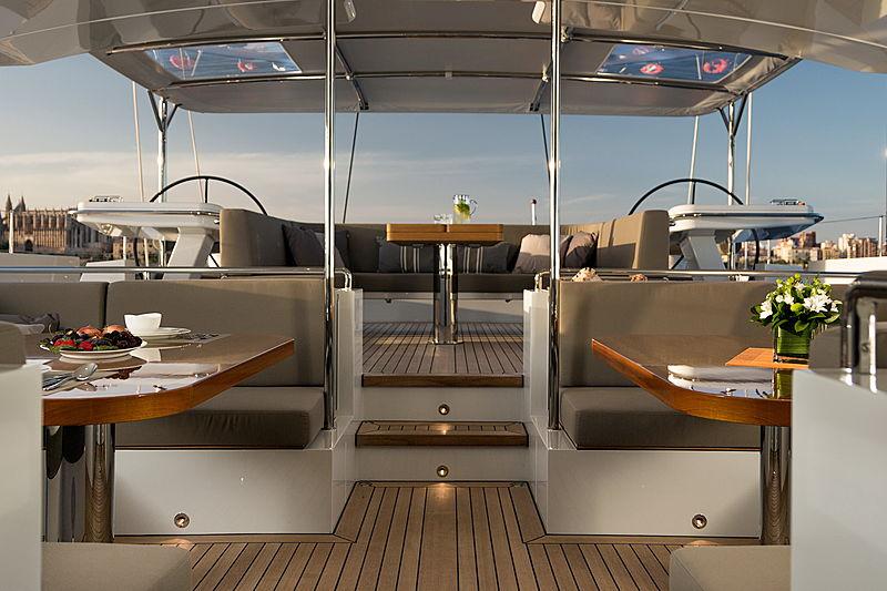 Sea Eagle I yacht cockpit