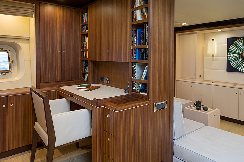Sea Eagle I yacht owner's study