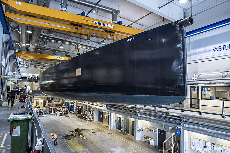 Baltic 117 yacht under construction at Baltic Yachts