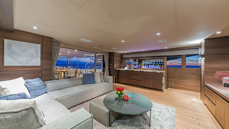 Big Sky yacht saloon