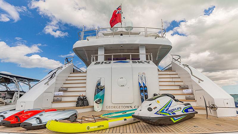 Big Sky yacht bathing platform