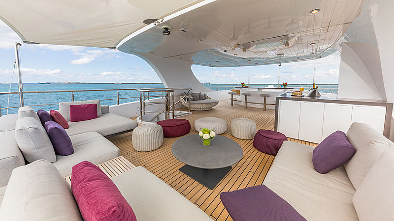 Big Sky yacht sundeck