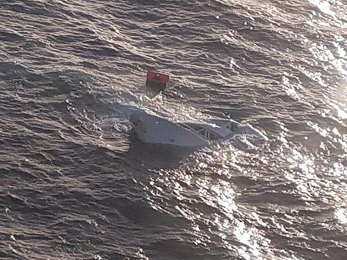 Going Coastal yacht sinking 35 miles south of Monterey, California, April 30, 2020.